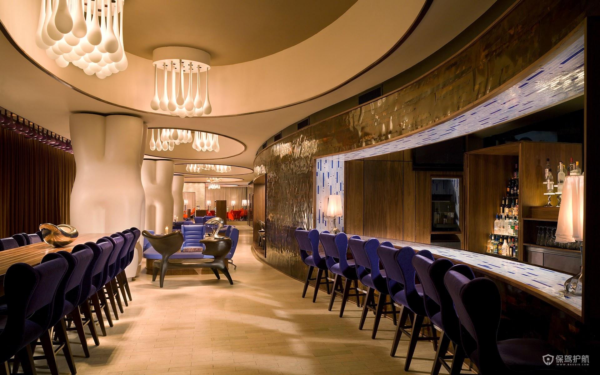 奢华西餐厅装修效果图