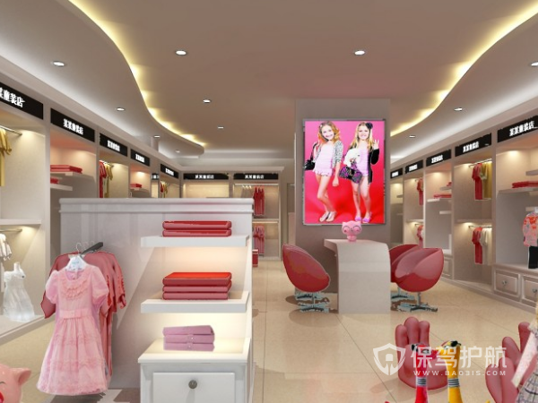 个性化童装店面装修设计效果图