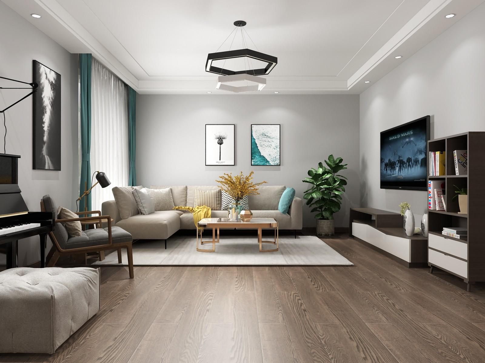东方名苑北欧风格三居室装修效果图