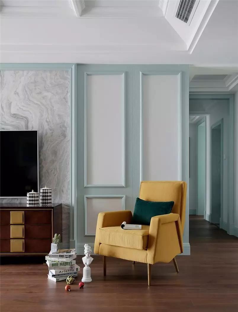 160㎡气质美式风格4室2厅装修效果图,彰显轻奢典雅的品质生活