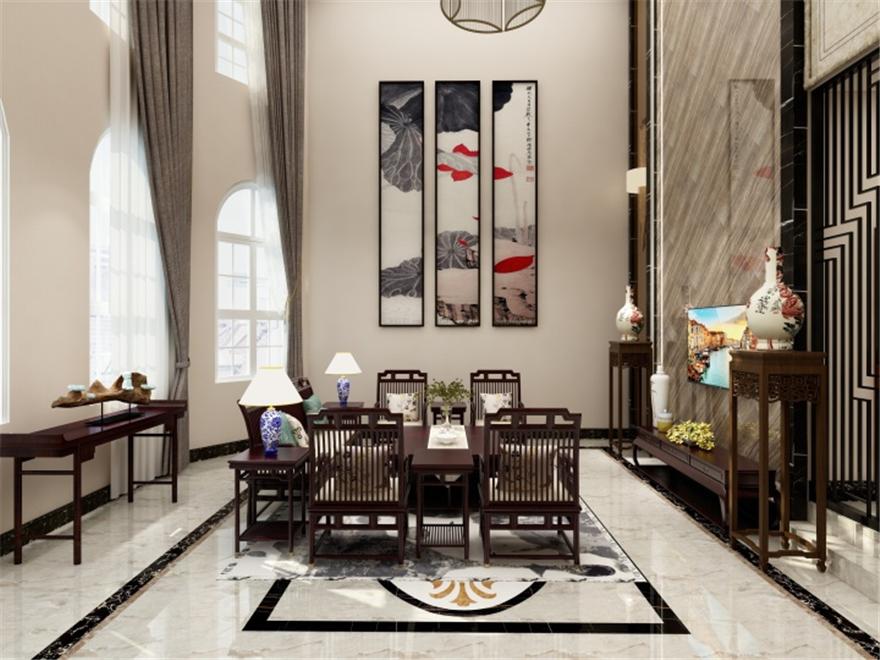 阳光凡尔赛宫163平米新古典风格装修效果图