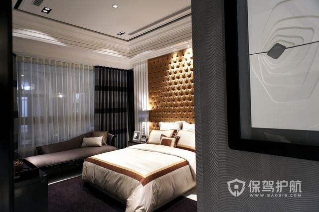 豪华欧式酒店卧室背景墙图