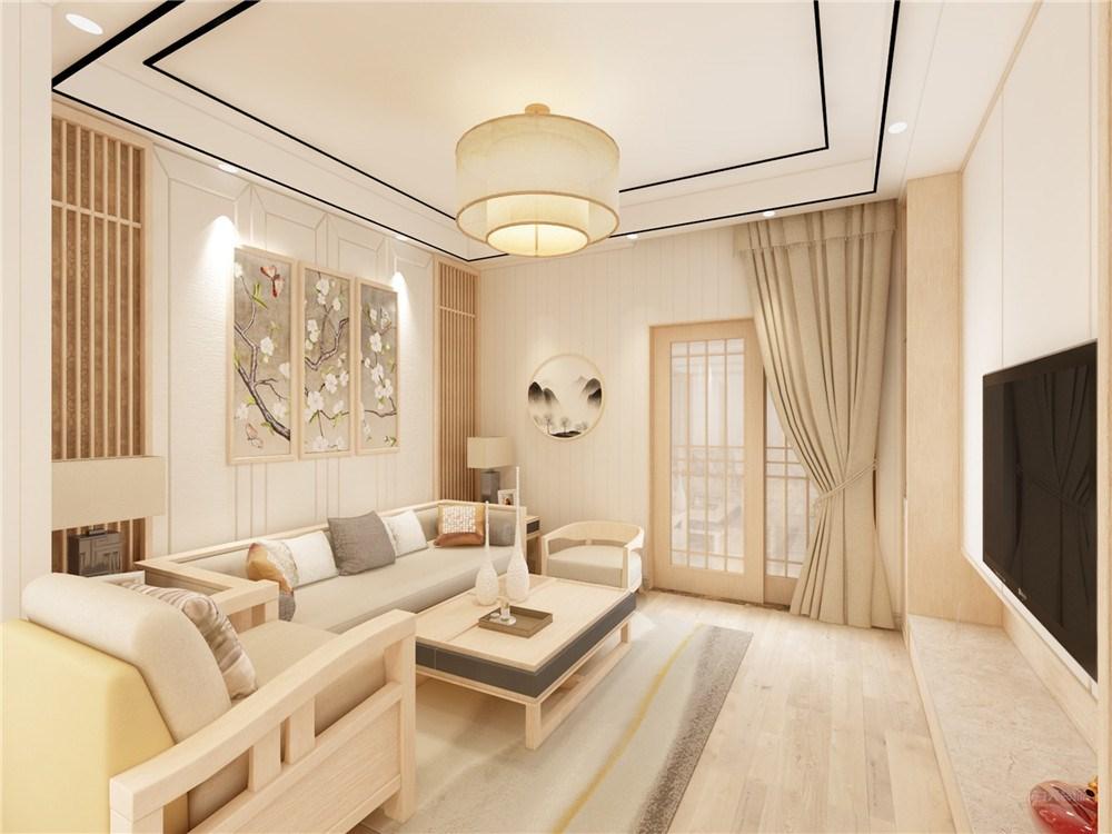 盛景华庭一居室新中式风格装修效果图