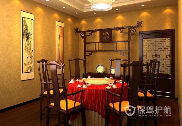 中式古韵餐厅装修实景图