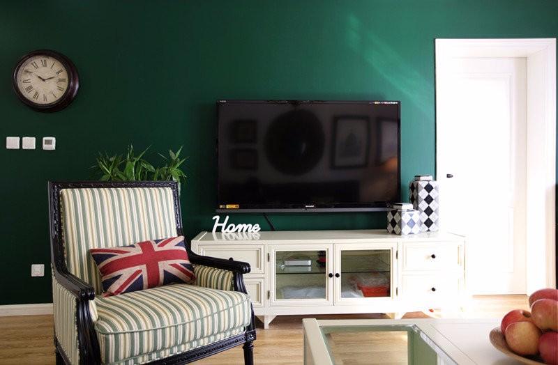 三居室美式风格实景房屋装修效果图
