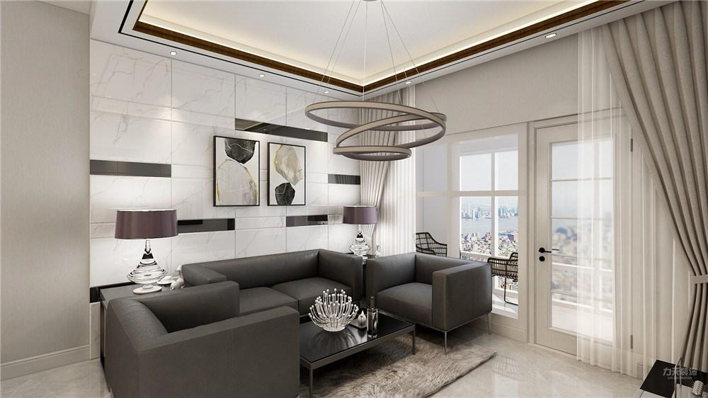 保利海棠湾二居室现代简约风格装修效果图