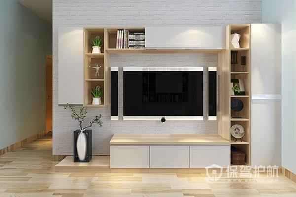 电视柜要紧靠墙吗?家居电视柜摆放效果