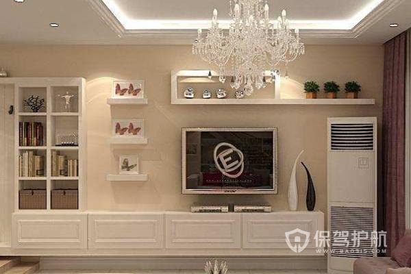 电视柜满墙如何不压抑?电视柜满墙装修效果图