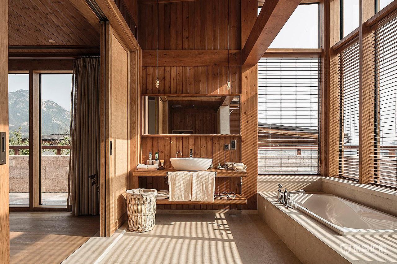 度假酒店浴室装修效果图