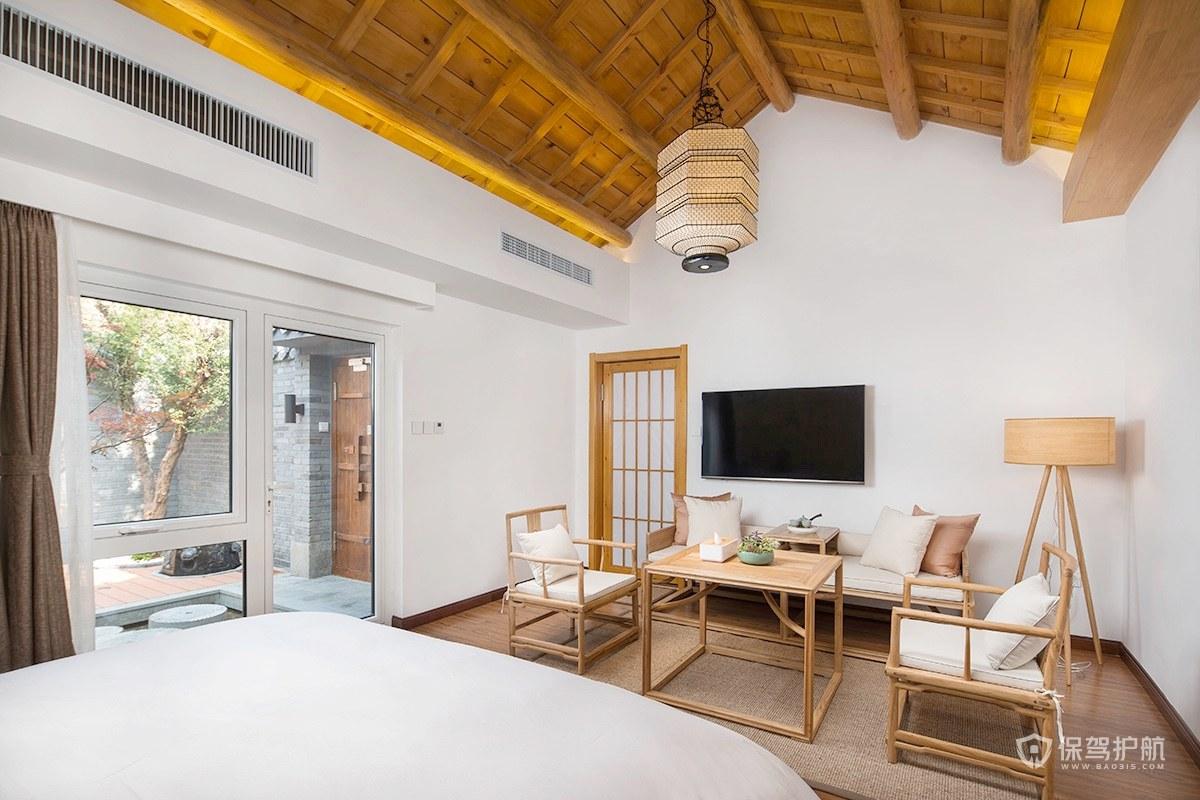 新中式簡約民宿酒店裝修效果圖