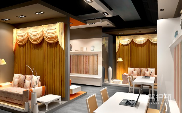 家纺展厅设计效果图