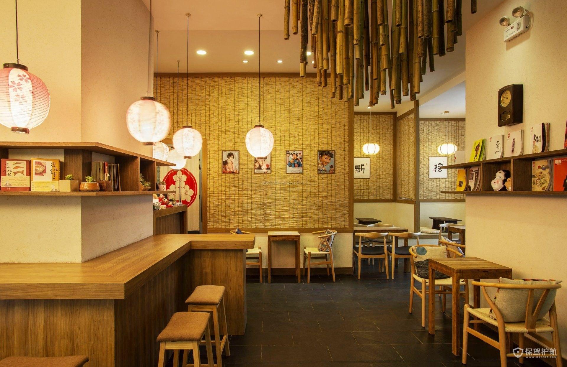 日式小吃店装修实景图