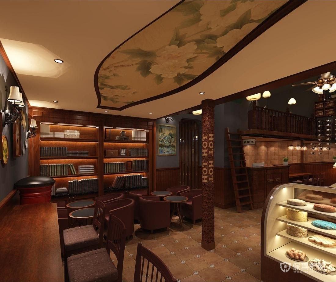 中式甜品门店装修实景图