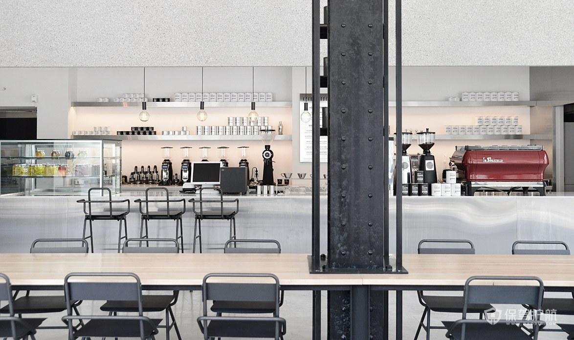 冷淡系咖啡馆操作台装修图片