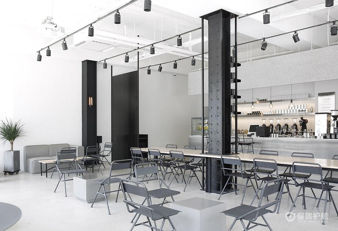 冷淡系咖啡馆设计效果图