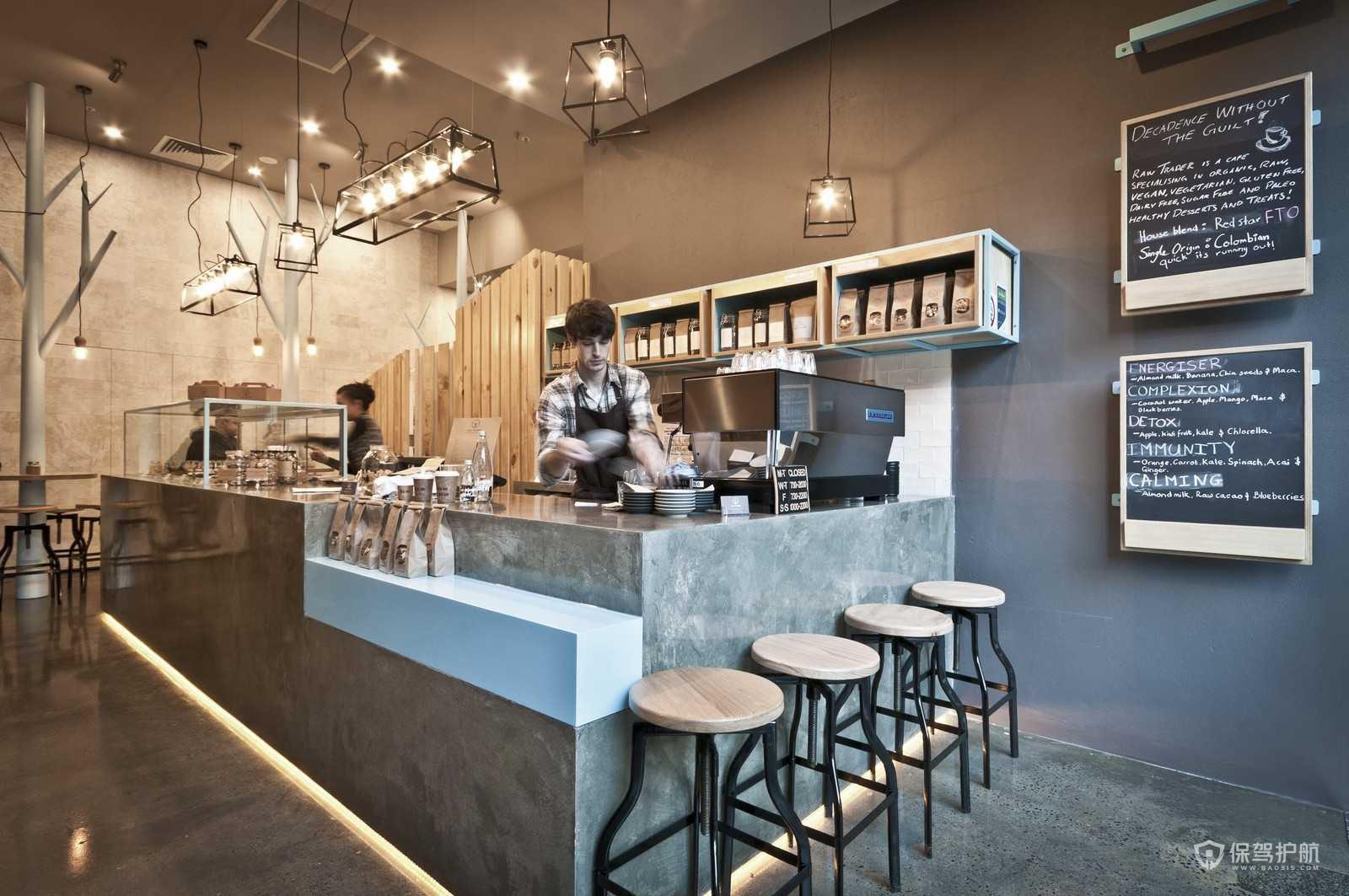 后现代风咖啡店装修效果图
