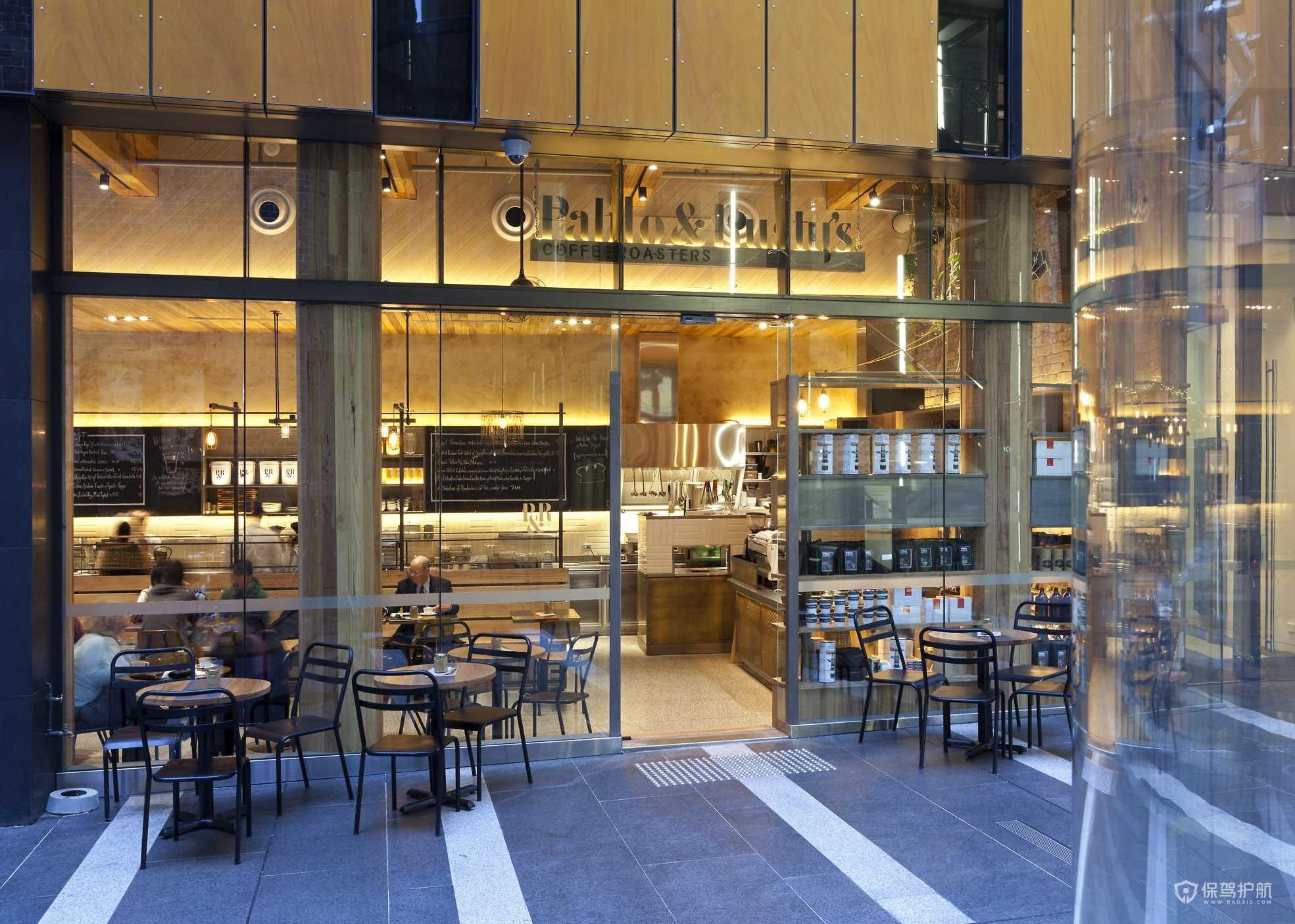 商场咖啡店门面装修效果图