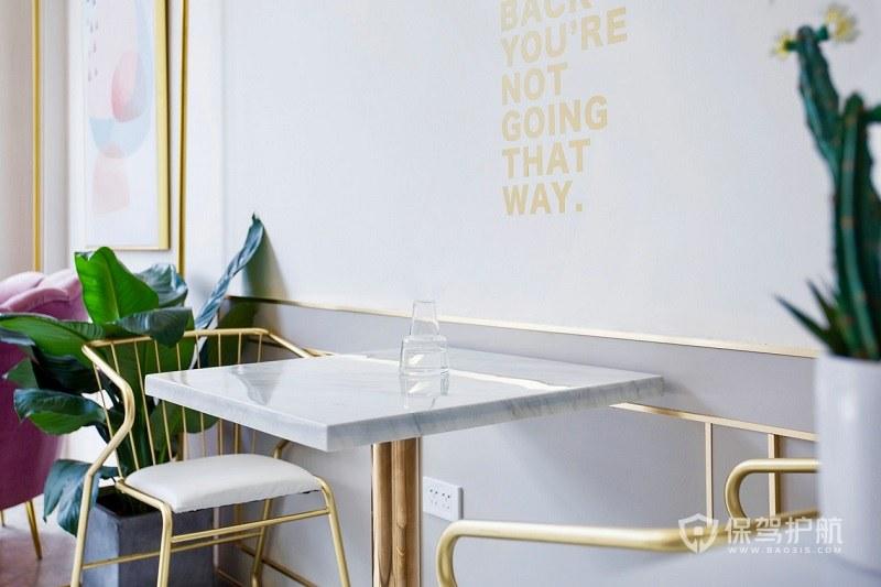 极简风咖啡厅装修实景图