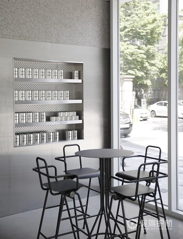 冷淡系咖啡馆局部设计效果