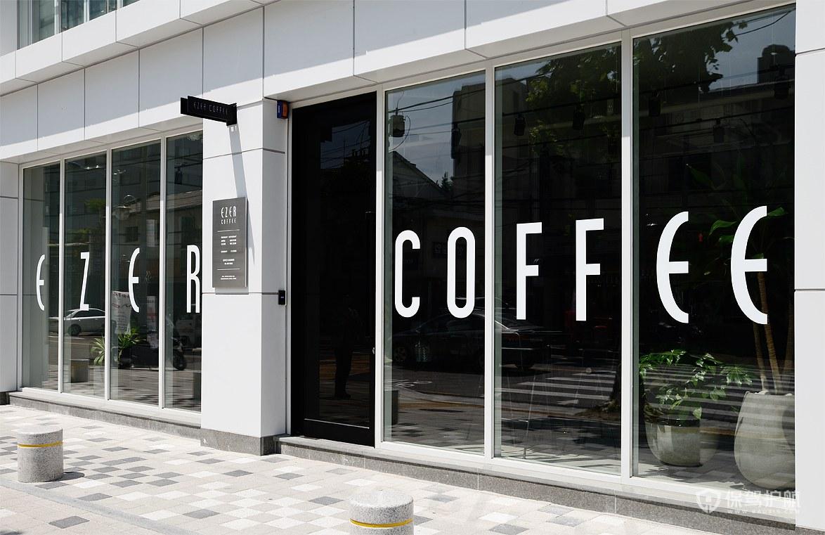 冷淡系咖啡馆门头设计效果图