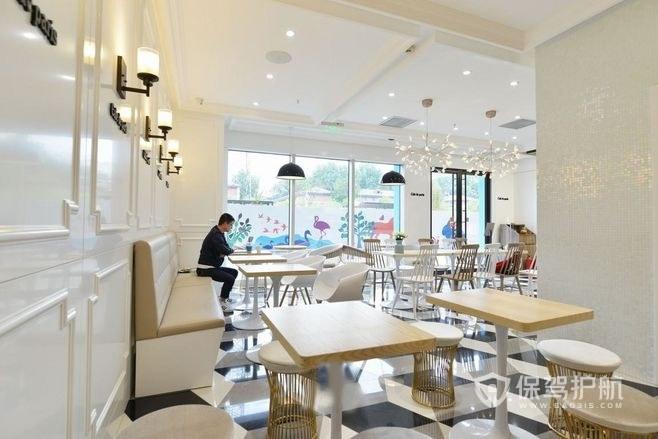 极简欧式餐厅装修实景图