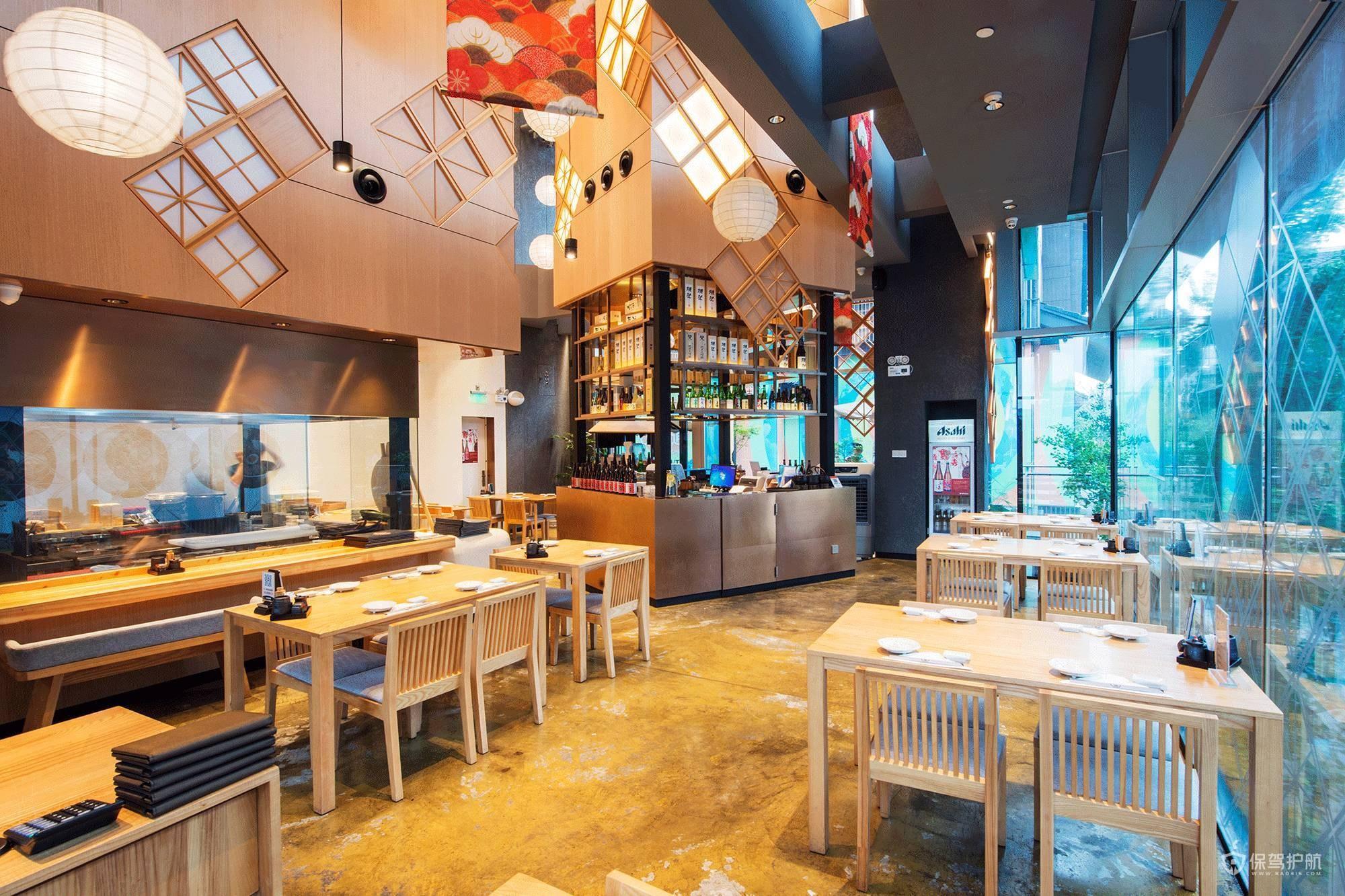 网红日式寿司店装修效果图