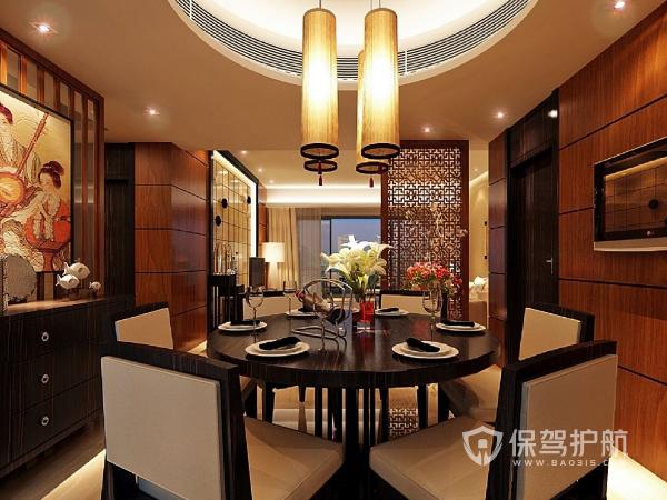 130平米中式菜馆装修设计效果图