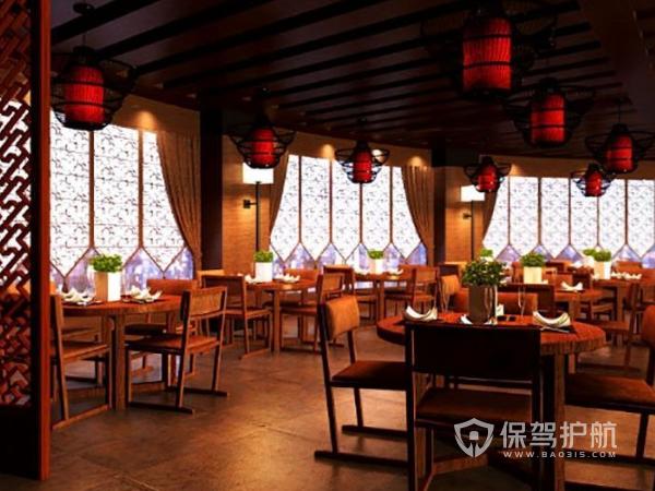 中式私房菜馆装修设计效果图