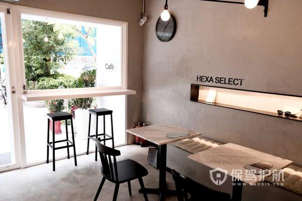 简约工业风咖啡厅装修实景图