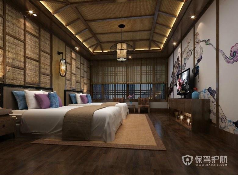 中式文雅民宿装修效果图