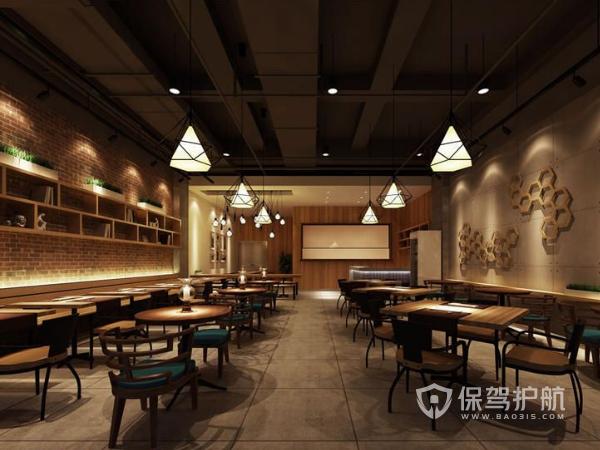 中式复古餐馆装修设计效果图