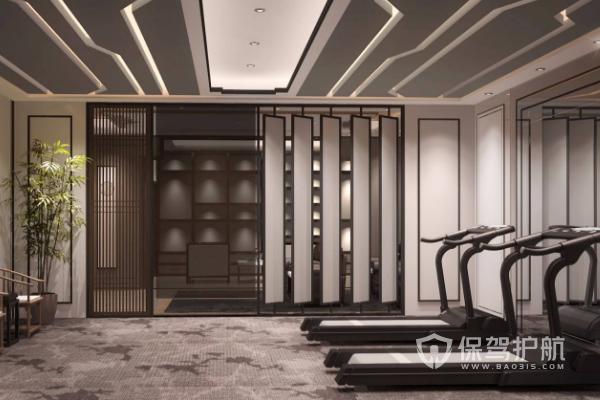 新中式健身房设计要素,新中式健身房设计图