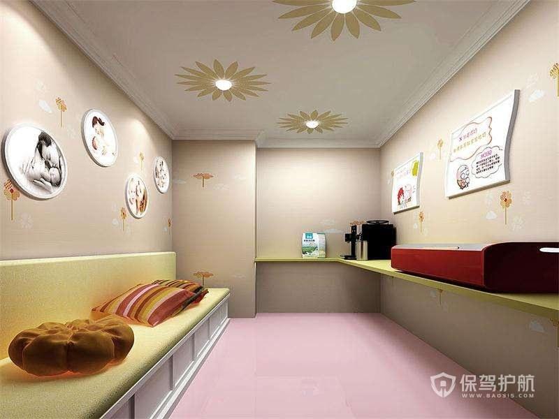 韩式美容院休息区装修实景图