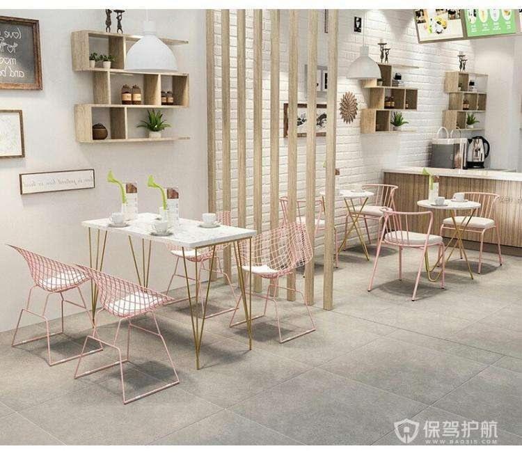 韩式清新风咖啡店装修实景图