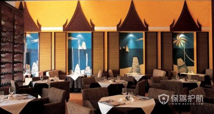 东南亚风格酒店餐厅装修效果图