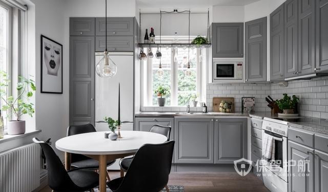 只有36㎡的輕奢北歐風單身公寓,背景墻全用淺灰色,高級感暴增