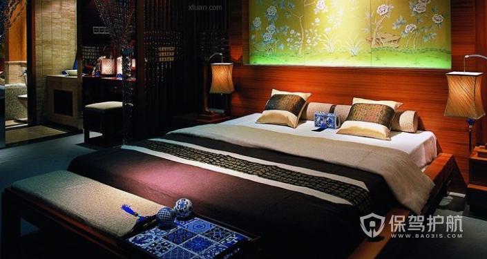 中式酒店客房装修效果图