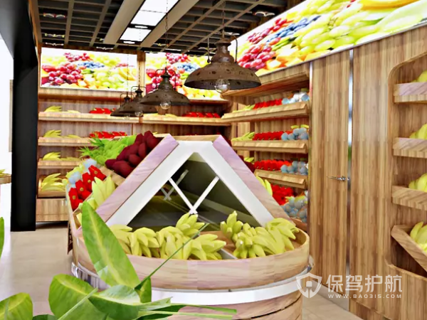 个性化水果超市装修设计效果图