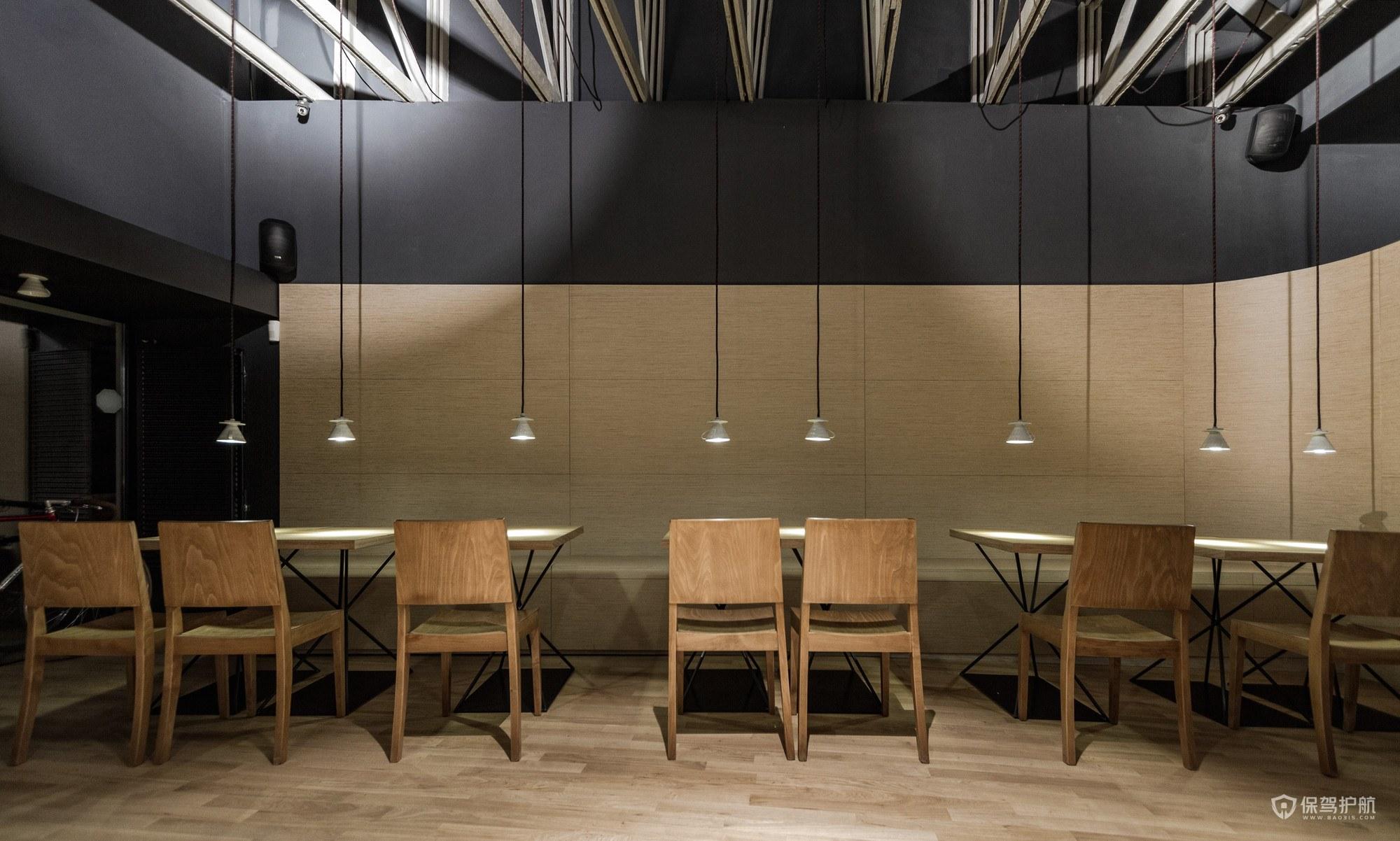 优雅古典风咖啡馆桌椅效果
