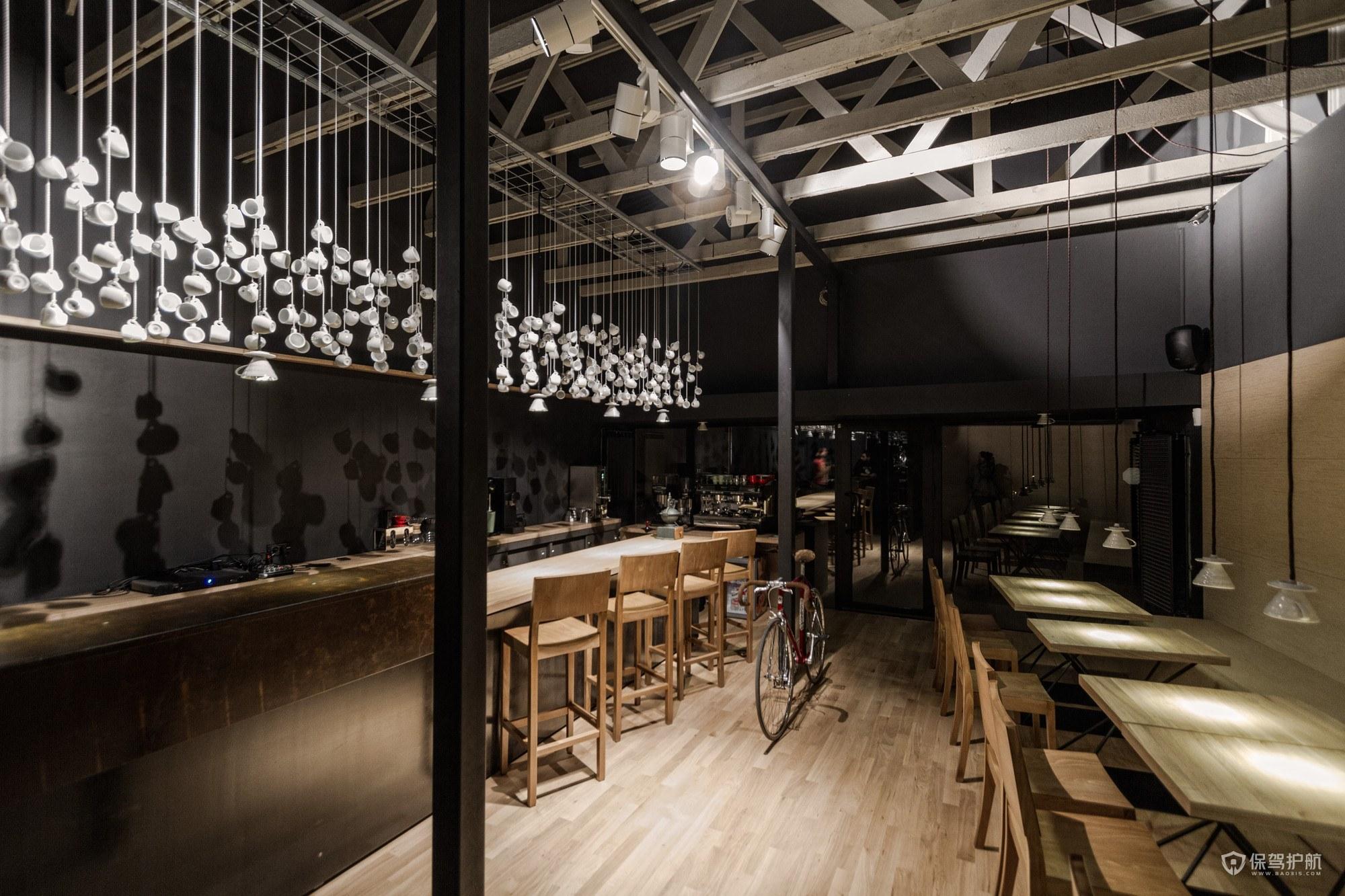 优雅古典风咖啡馆操作台设计图