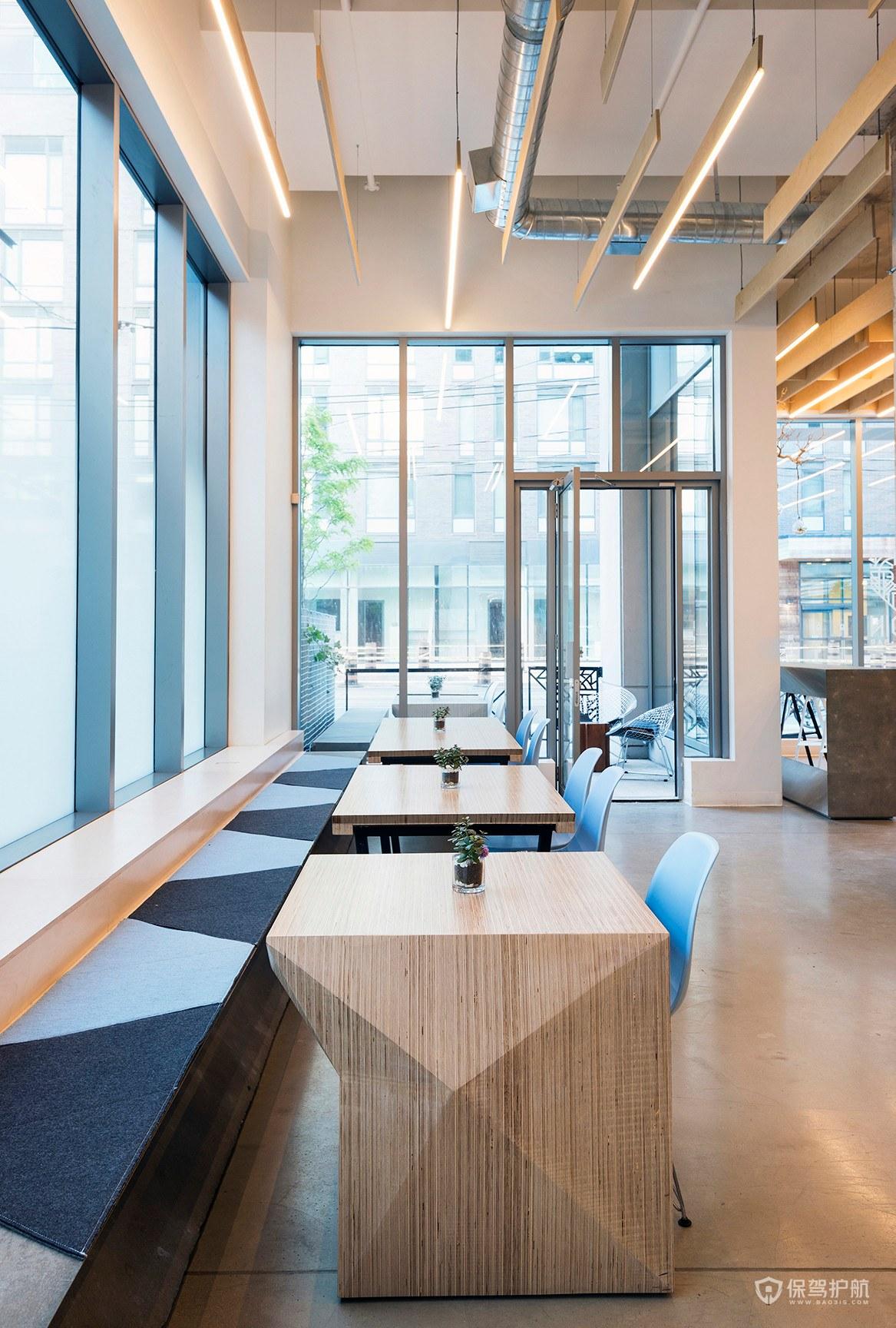 创意时尚咖啡馆局部桌椅效果图