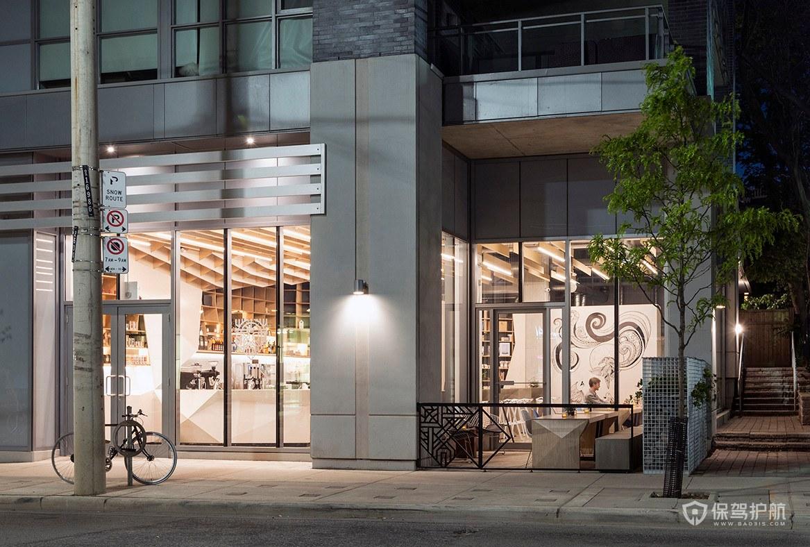 创意时尚咖啡馆门头设计效果图
