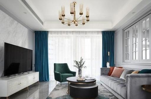 新房装修美式风格装修,客厅洁白如玉真漂亮,书房里放帐篷,谁见过