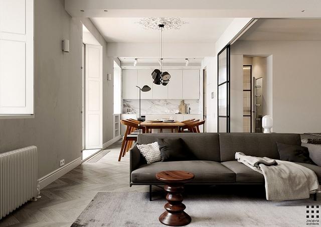 为老婆装修新房,虽说只有65m²但全屋简约风格舒适自在,客厅设计很亮眼