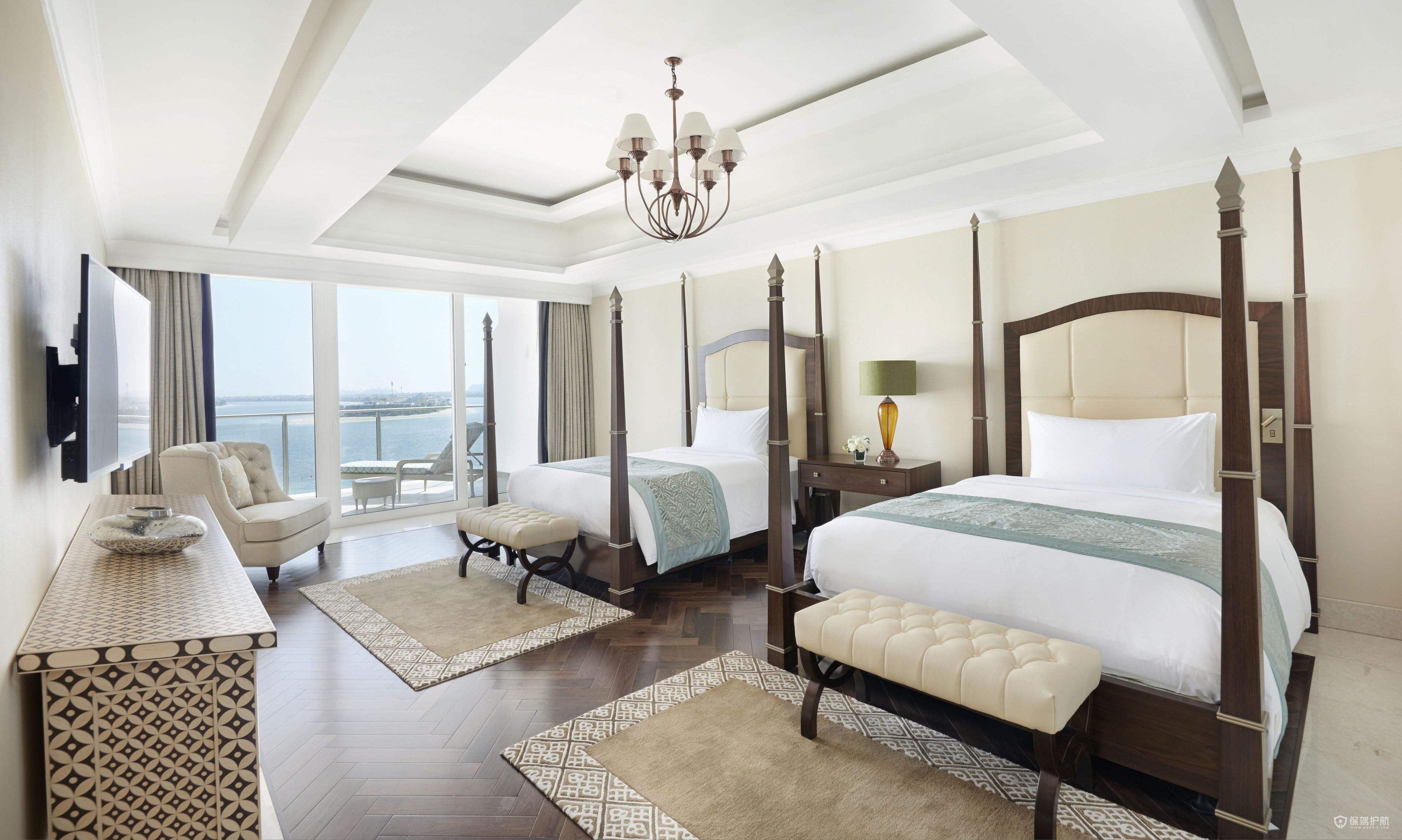 法式古典宫廷式酒店卧室装修图