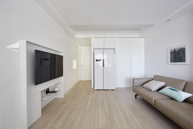 历时四个月新房硬装终于完成,客厅简约又大气,老婆吵着要入住