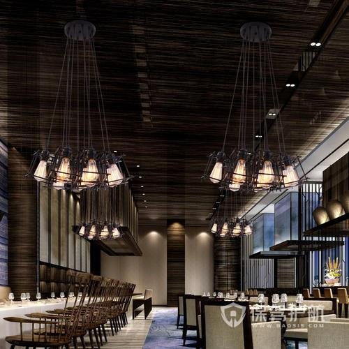 美式创意餐厅装修实景图
