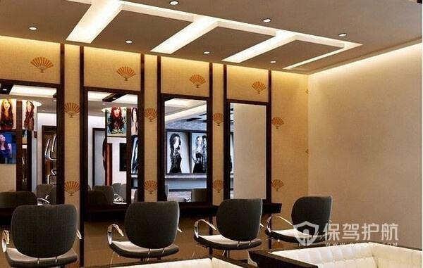 60平现代风格理发店装修实景图