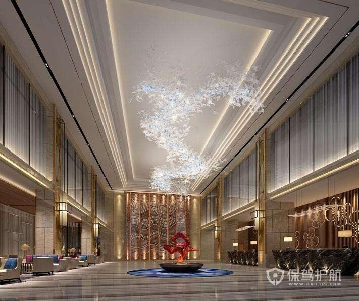 豪华欧式酒店大堂装修实景图