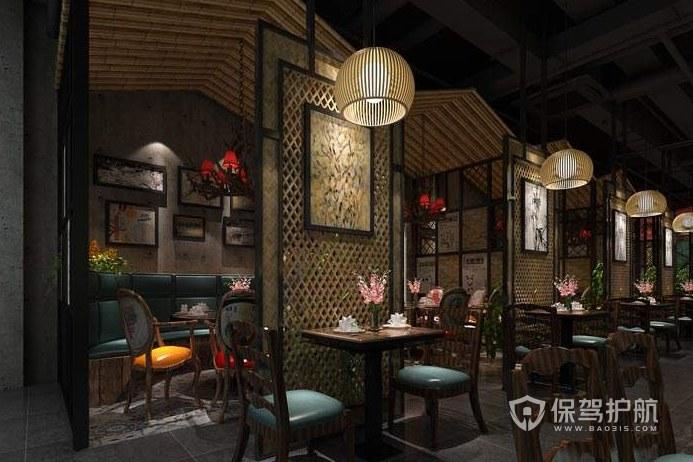 中式风格餐馆装修效果图